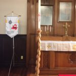 作っていただいた燭台とろうそくがぴったりと合いました。